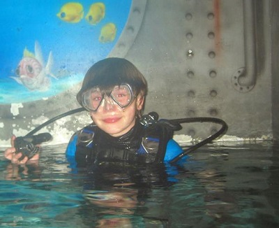 Childrens scuba diving party in Hertfordshire, bedford and