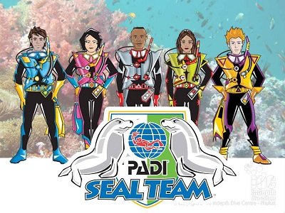 padi master seal team, childrens scuba diving course